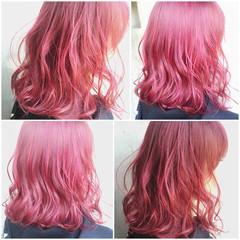 暗髪 ゆるふわ ガーリー グラデーションカラー ヘアスタイルや髪型の写真・画像