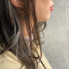 デザインカラー ナチュラル アッシュグレージュ グレージュ ヘアスタイルや髪型の写真・画像