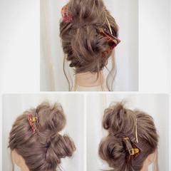 アップスタイル 簡単ヘアアレンジ ロング ルーズ ヘアスタイルや髪型の写真・画像