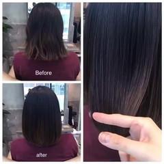 トリートメント ストレート 透明感 艶髪 ヘアスタイルや髪型の写真・画像