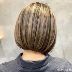 外国人風カラー インナーカラー ハイトーンカラー 大人ハイライト ヘアスタイルや髪型の写真・画像