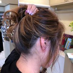 バレイヤージュ 外国人風カラー ヘアアレンジ アンニュイほつれヘア ヘアスタイルや髪型の写真・画像