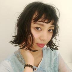 ナチュラル フェミニン 前髪あり 大人かわいい ヘアスタイルや髪型の写真・画像