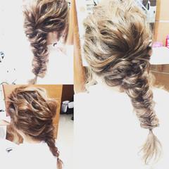 ヘアアレンジ 波ウェーブ ねじり ロング ヘアスタイルや髪型の写真・画像