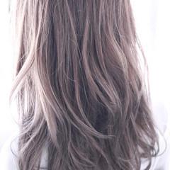 ロング ゆるふわ ラベンダーピンク ラベンダー ヘアスタイルや髪型の写真・画像