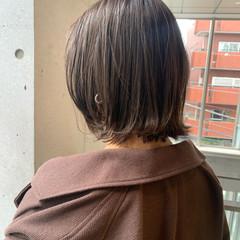 切りっぱなしボブ ナチュラル モテボブ ゆるふわパーマ ヘアスタイルや髪型の写真・画像