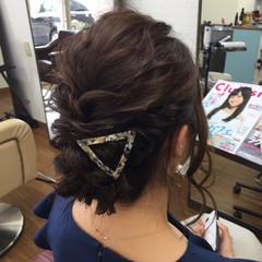 ゆるふわ 編み込み フェミニン ヘアアレンジ ヘアスタイルや髪型の写真・画像