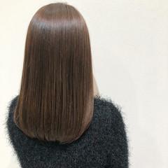 サイエンスアクア 髪質改善カラー セミロング ナチュラル ヘアスタイルや髪型の写真・画像