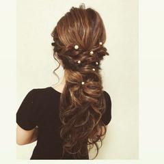 フェミニン 女子会 デート ロング ヘアスタイルや髪型の写真・画像
