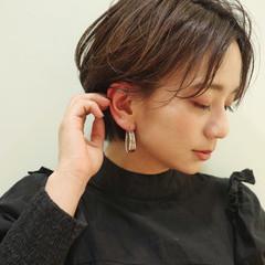 モード 大人ショート 耳掛けショート ショートヘア ヘアスタイルや髪型の写真・画像