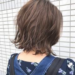 ウェーブ ボブ 大人かわいい ラフ ヘアスタイルや髪型の写真・画像