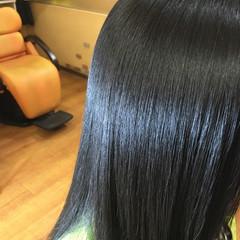 ロング ストレート パーマ ガーリー ヘアスタイルや髪型の写真・画像