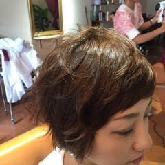 ショート ピュア パーマ モード ヘアスタイルや髪型の写真・画像