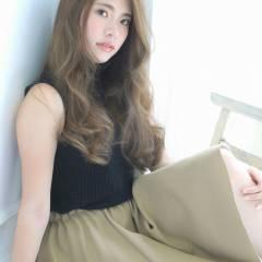 大人かわいい 外国人風 ゆるふわ フェミニン ヘアスタイルや髪型の写真・画像