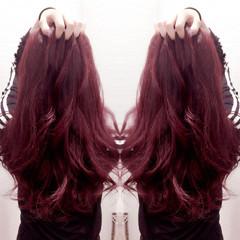 ブリーチなし モード ピンク ロング ヘアスタイルや髪型の写真・画像