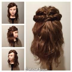 フェミニン モテ髪 愛され ミディアム ヘアスタイルや髪型の写真・画像