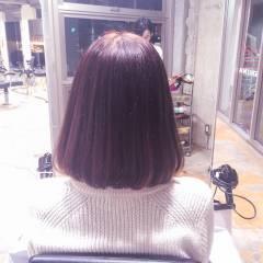 外国人風 秋 暗髪 ロブ ヘアスタイルや髪型の写真・画像