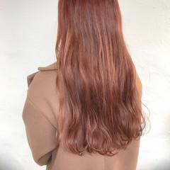 ロング ナチュラル ピンクラベンダー ピンクバイオレット ヘアスタイルや髪型の写真・画像
