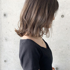グラデーションカラー ナチュラル 透明感カラー ボブ ヘアスタイルや髪型の写真・画像
