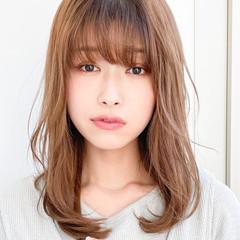 髪質改善カラー ミディアム ナチュラル 髪質改善 ヘアスタイルや髪型の写真・画像