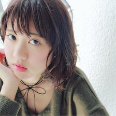 暗髪 ガーリー 冬 色気 ヘアスタイルや髪型の写真・画像