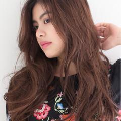 外国人風 ロング ストリート ハイライト ヘアスタイルや髪型の写真・画像