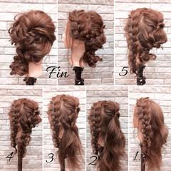 結婚式 ミディアム ガーリー 大人女子 ヘアスタイルや髪型の写真・画像