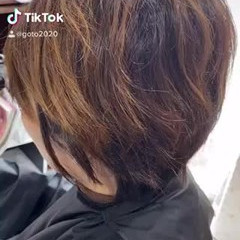デジタルパーマ ショート グラデーションカラー ガーリー ヘアスタイルや髪型の写真・画像