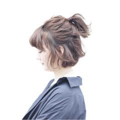 ヘアアレンジ ミディアム ストリート ガーリー ヘアスタイルや髪型の写真・画像