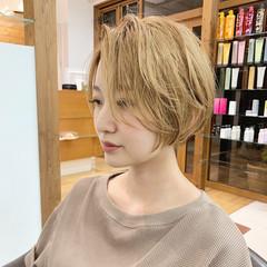 ナチュラル ショート ハンサムショート ヘアスタイルや髪型の写真・画像