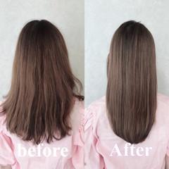 トリートメント 似合わせカット ナチュラル 髪質改善トリートメント ヘアスタイルや髪型の写真・画像