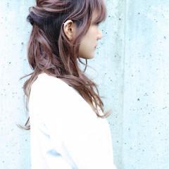 大人かわいい ロング ヘアアレンジ ナチュラル ヘアスタイルや髪型の写真・画像