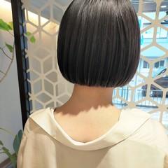 ミニボブ コンパクトショート 切りっぱなしボブ まとまるボブ ヘアスタイルや髪型の写真・画像