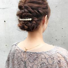セミロング デート 結婚式 フェミニン ヘアスタイルや髪型の写真・画像
