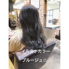 ブルージュ ナチュラル セミロング アンニュイほつれヘア ヘアスタイルや髪型の写真・画像