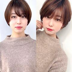 フェミニン ショートカット ショートヘア 髪質改善 ヘアスタイルや髪型の写真・画像