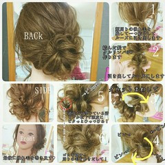 ゆるふわ ヘアアレンジ ロング セルフヘアアレンジ ヘアスタイルや髪型の写真・画像