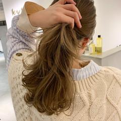 韓国ヘア 透明感カラー セミロング 韓国 ヘアスタイルや髪型の写真・画像