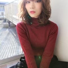 モード フェミニン 小顔 アッシュ ヘアスタイルや髪型の写真・画像