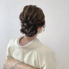 和装ヘア 着物 留袖 ミディアム ヘアスタイルや髪型の写真・画像
