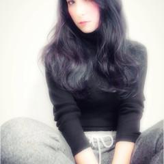 ストリート 大人女子 大人かわいい 黒髪 ヘアスタイルや髪型の写真・画像
