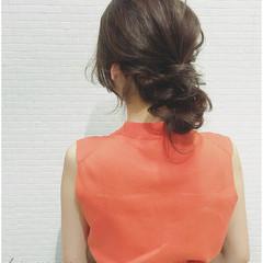 ヘアアレンジ 簡単ヘアアレンジ ロング お団子 ヘアスタイルや髪型の写真・画像