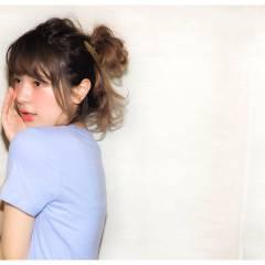 セミロング ヘアアレンジ 春 ウェットヘア ヘアスタイルや髪型の写真・画像