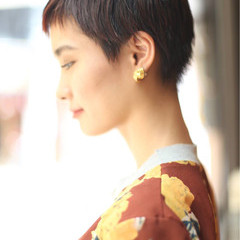 ストリート ショート ベリーショート 小顔 ヘアスタイルや髪型の写真・画像