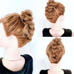 三つ編み ヘアアレンジ ヘアセット セルフヘアアレンジ ヘアスタイルや髪型の写真・画像