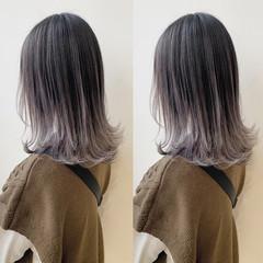 ショートヘア インナーカラー ボブ 切りっぱなしボブ ヘアスタイルや髪型の写真・画像
