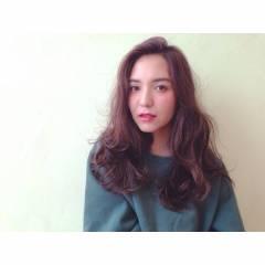 ウェーブ ウェットヘア ストレート パーマ ヘアスタイルや髪型の写真・画像