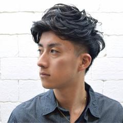 メンズ ストリート 黒髪 ミディアム ヘアスタイルや髪型の写真・画像
