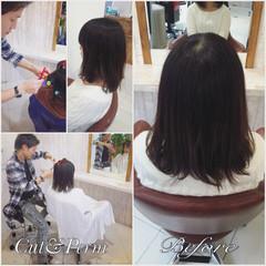 パーマ 外国人風 黒髪 ナチュラル ヘアスタイルや髪型の写真・画像