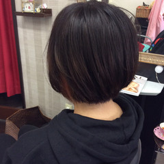 インナーカラー オレンジブラウン ボブ オレンジカラー ヘアスタイルや髪型の写真・画像